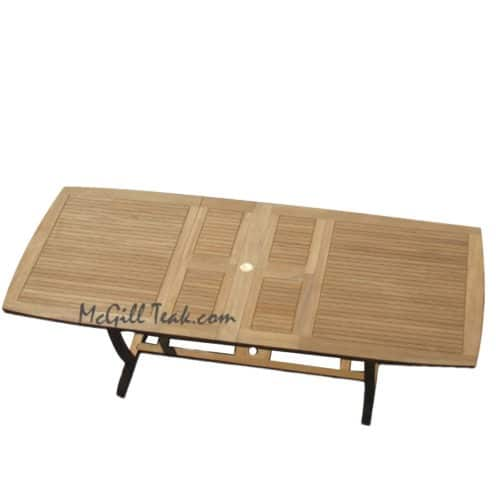 Titan Teak double extension dining table