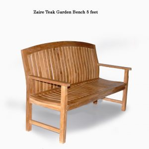 5 feet Zaire Teak Wood Park Bench