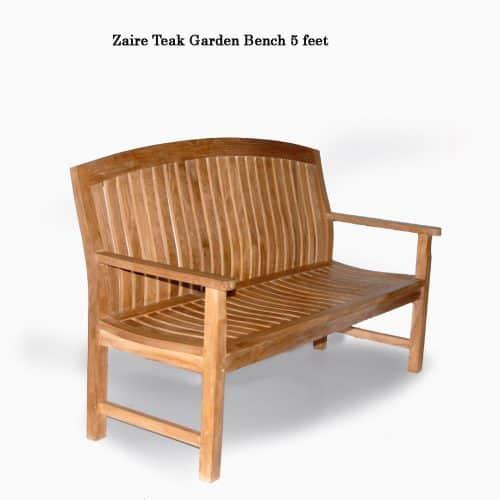 5 feet Teak heavy outdoor bench zaire