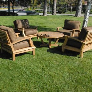 5 pc Lounge Set – Bali with Orlando Round Coffee Table