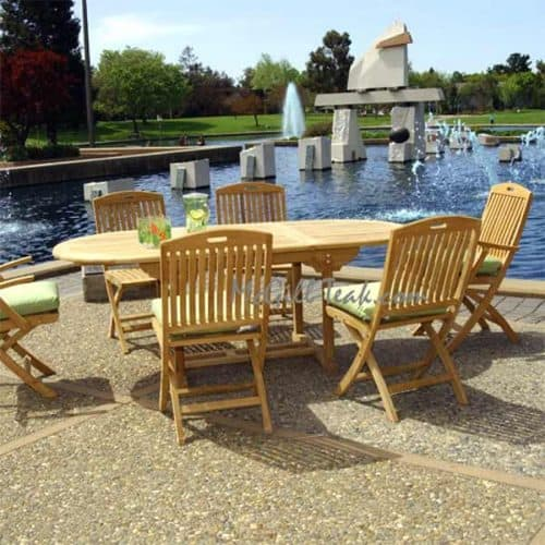 Aegean table New York chairs outdoor dining set