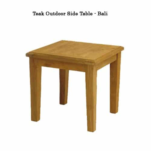 Teak patio end table Bali