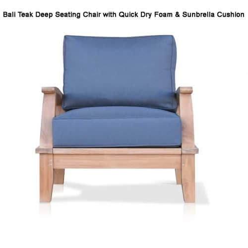 Teak deep seating chair bali