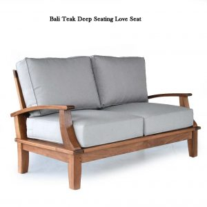 Bali Teak Deep Seating Love-Seat