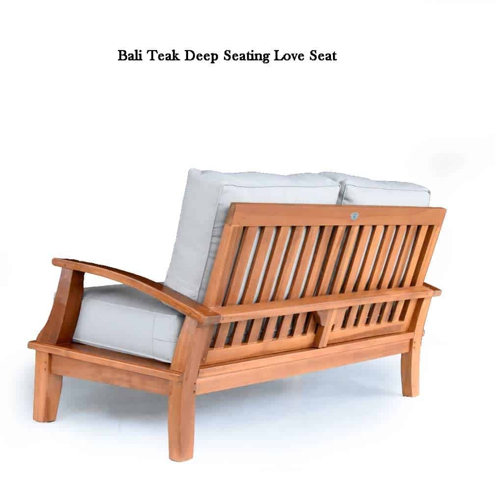 Pleasant Bali Teak Deep Seating Love Seat Theyellowbook Wood Chair Design Ideas Theyellowbookinfo