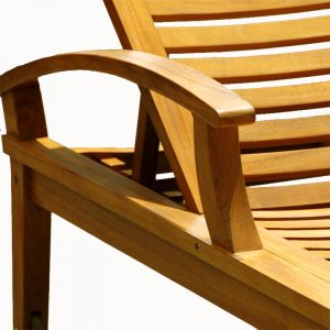 Teak Outdoor Sun Chaise Lounger – Bali