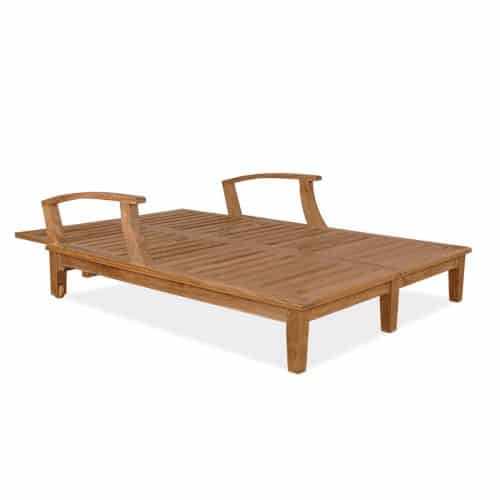 Bali Teak double Chaise lounger