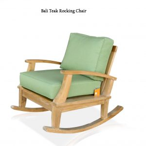 Teak Outdoor Patio Deep Seating Rocking Chair – Bali