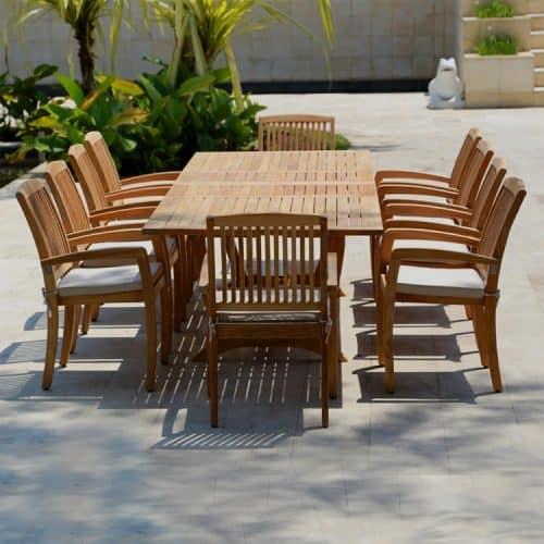 Blaze teak chair with Titan table