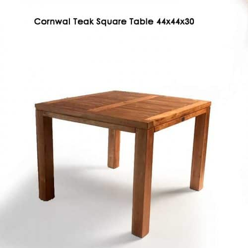 Teak square farm dining table