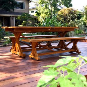 8 feet Teak Extension Beam Table – Heritage
