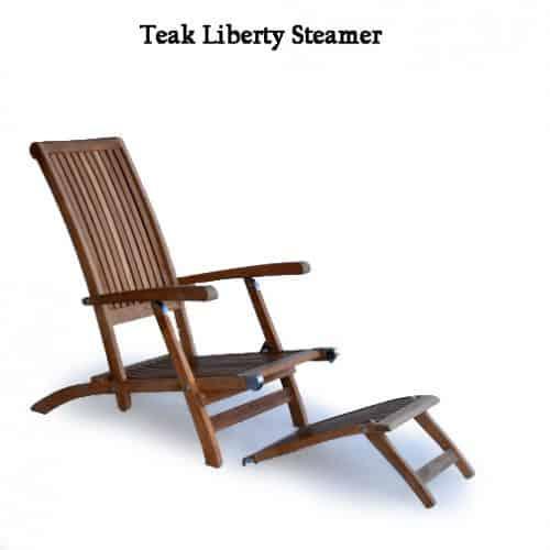 Teak outdoor steamer chair