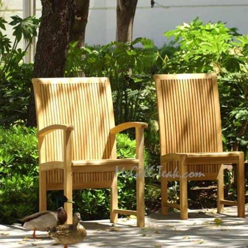 teak patio side chair