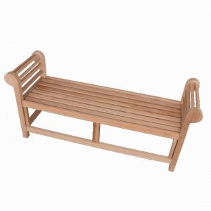 5 feet Teak Wood Garden Backless Bench – Lutyens