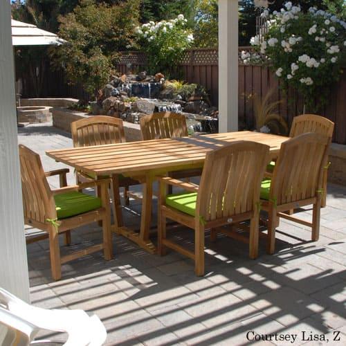 7 Pc Teak Patio Dining Table Set