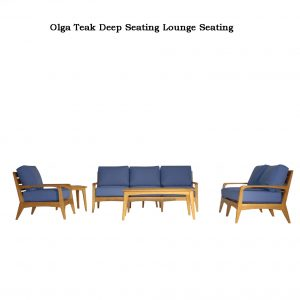 Mid Century Modern Teak Patio Lounge Set – Olga