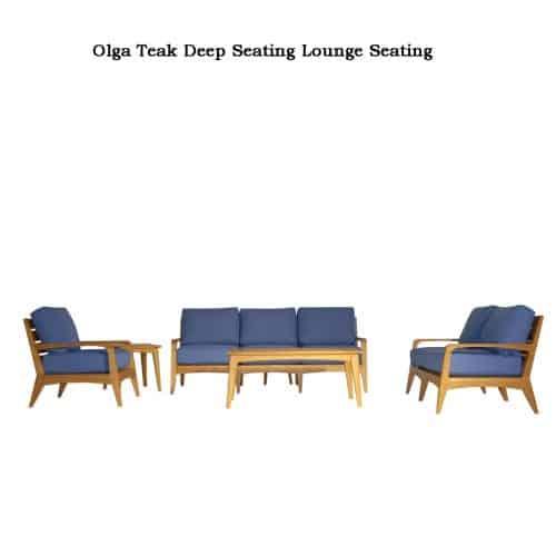 Olga teak deep seating
