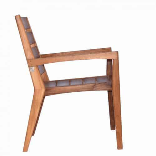 Olga teak outdoor stacking chair