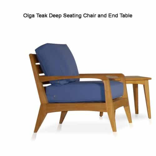 Olga teak conversation lounge chair
