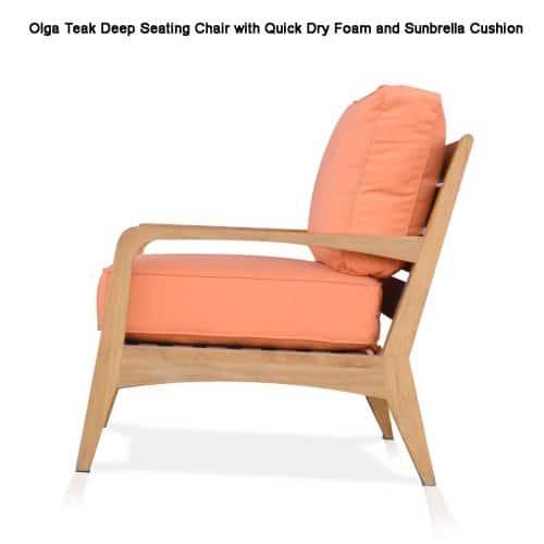 Olga teal deep seating chair