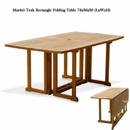 Olympia teak folding rectangle table
