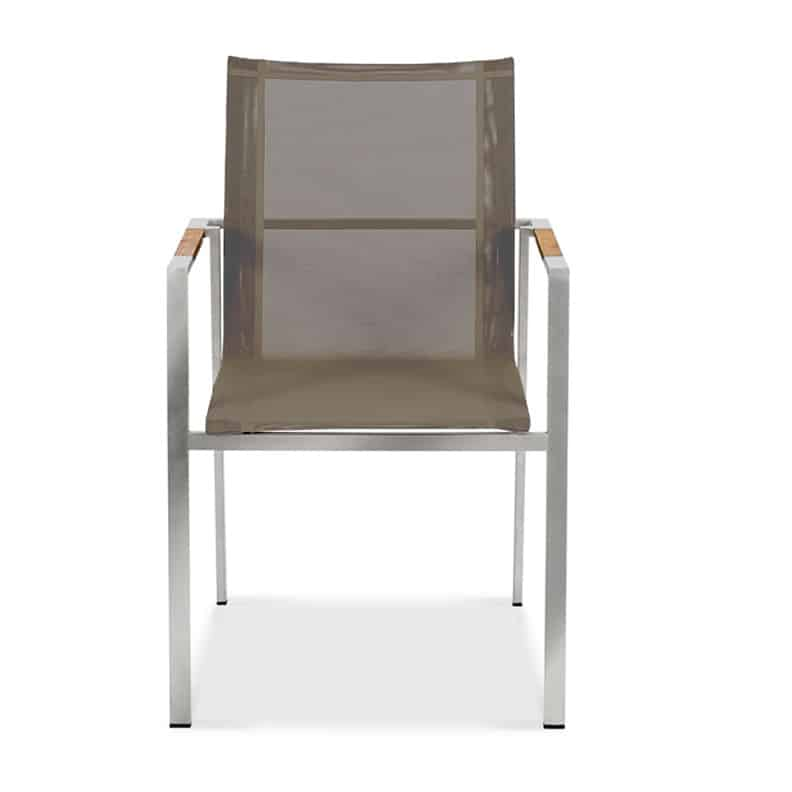 Stainless Steel Sling Outdoor Stacking Chair Alzette