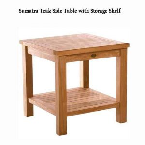 Teak Outdoor Patio Side Table – Sumatra End Table