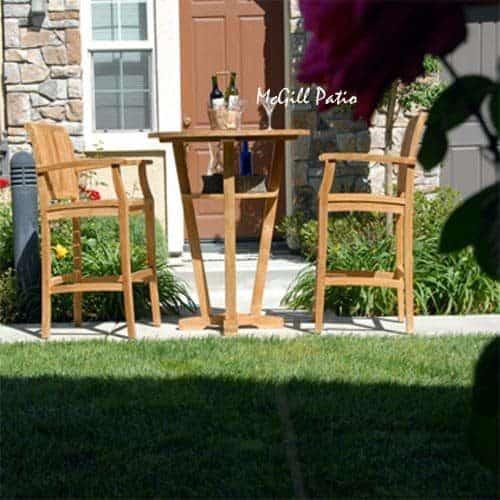 Titan teak outdoor bar chair
