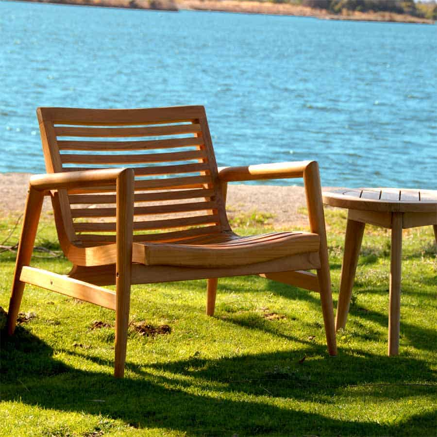 Outdoor Lounge Club Chair Ira Teak Patio Furniture