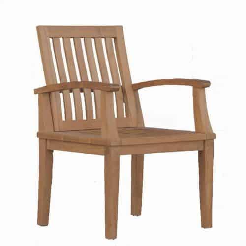 teak outdoor bali teak dining chair