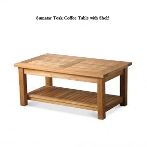 Teak Outdoor Coffee Table with shelf – Sumatra