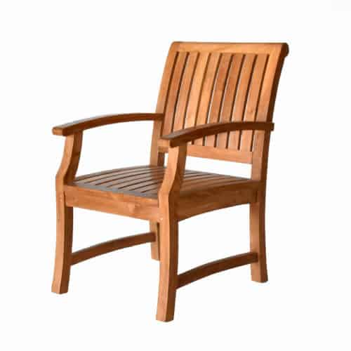 Teak patio wooden chair