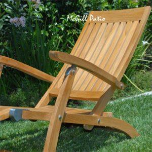 Teak Folding Steamer Chair – Vero