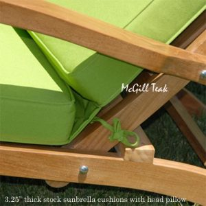 Outdoor Folding Steamer Chair Cushion