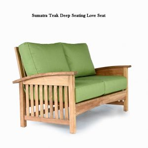 Sumatra Teak Deep seat – Loveseat