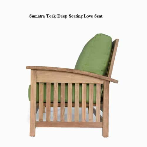 Teak deep seating loveseat sumatra