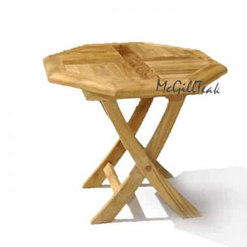 Teak folding Octagonal side table