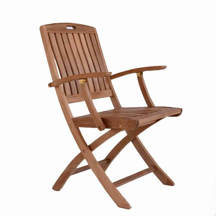 Astonishing Teak Patio Outdoor Folding Arm Chair New York Teak Patio Machost Co Dining Chair Design Ideas Machostcouk