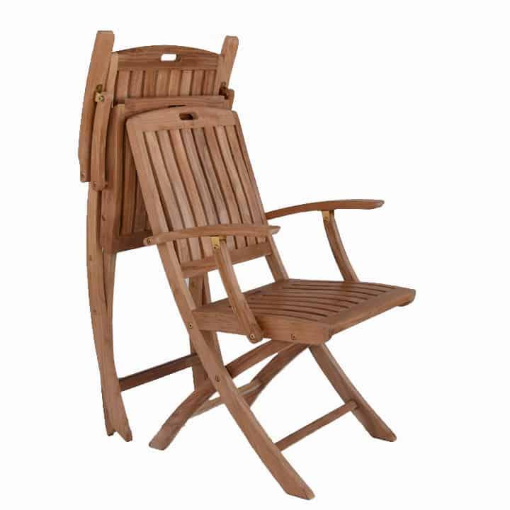 Teak Patio Outdoor Folding Arm Chair New York Teak