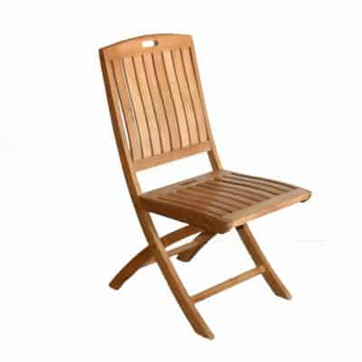 Teak Patio Outdoor Folding Side Chair – NewYork