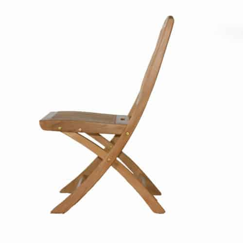 Folding outdoor dining chair