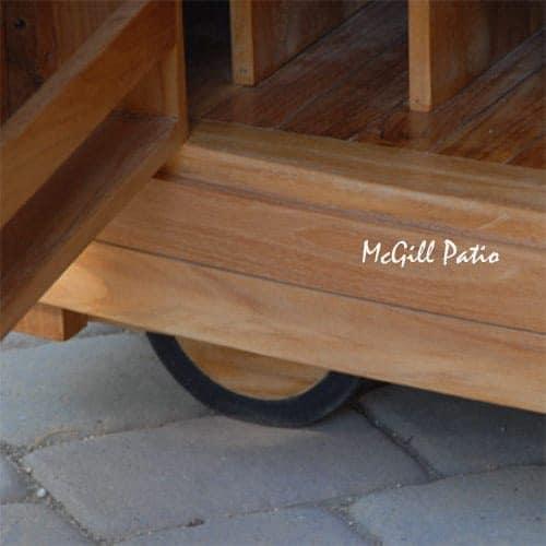 Teak outdoor bar set