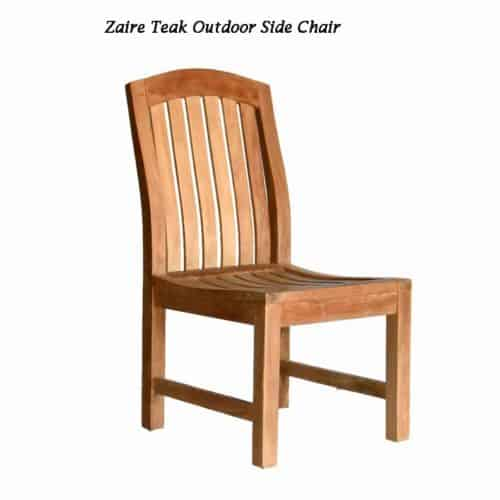 Teak outdoor side chair