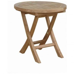 Teak Garden End Table – Sirus Round Side Table