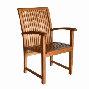 Teak Patio Arm Dining Chair – Liberty
