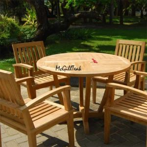 44 inch Teak Outdoor Table – Tigris Round Table