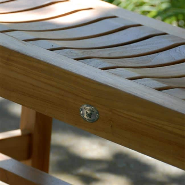 Fabulous 4 Feet Teak Outdoor Patio Backless Waiting Bench Wave Alphanode Cool Chair Designs And Ideas Alphanodeonline