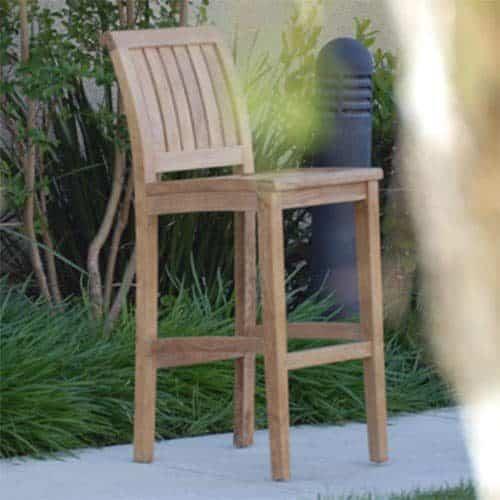 Titan teak bar stool chair