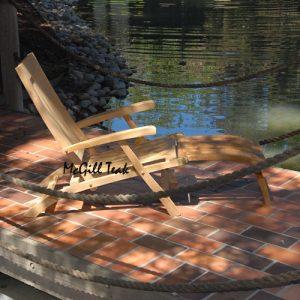 Teak Folding Steamer Chair with cushion – Vero
