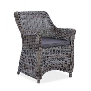 wicker patio dining chair